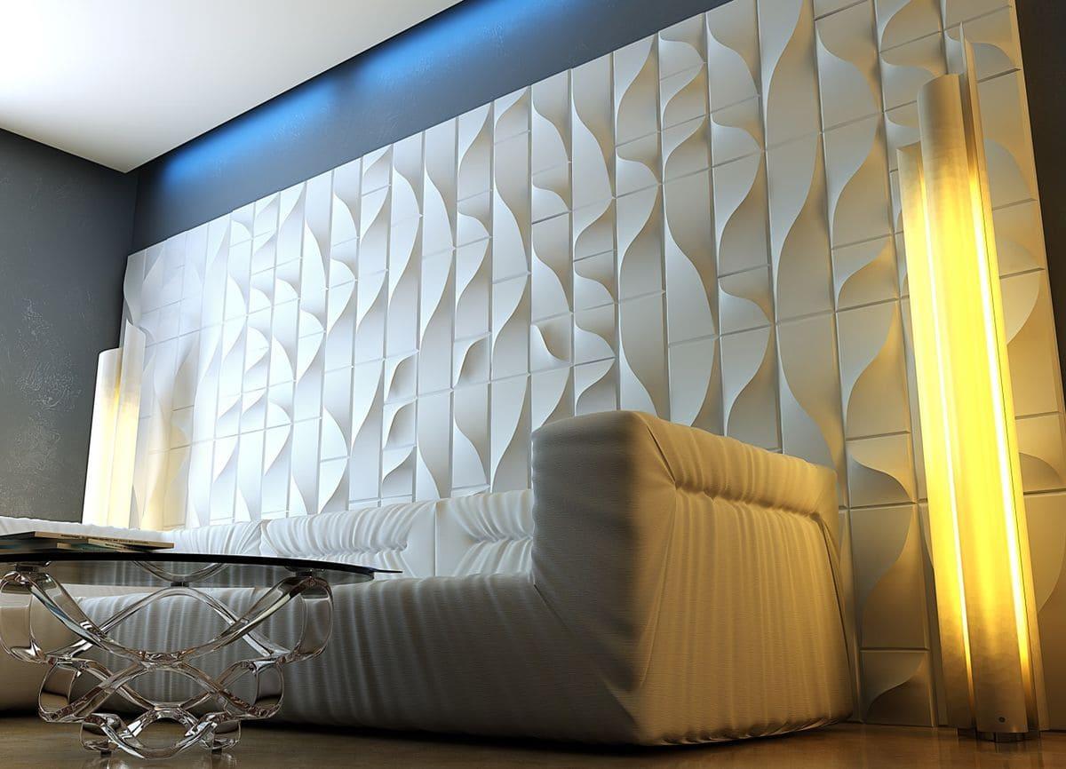 Особливості оформлення вітальні - як декор стін впливає на нього